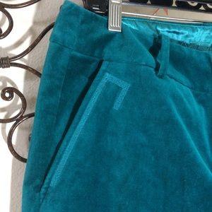 CLASS Roberto Cavalli Teal Velvet Pants